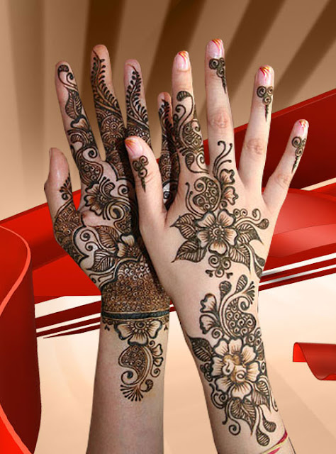 Birdal Mehndi Designs Back and Front