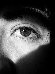 la imagen muestra un ojo en la sombra
