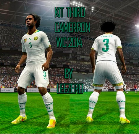 PES 2013 Cameroon WC 2014 Third Kits by leezero