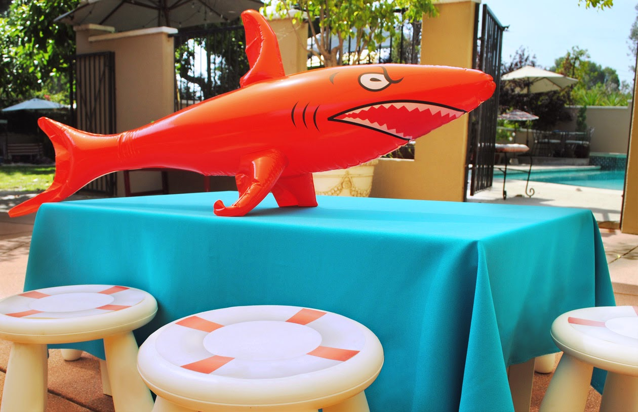 Shark Pool Party Ideas find this pin and more on shark party ideas Wet N Wild Shark Pool Party