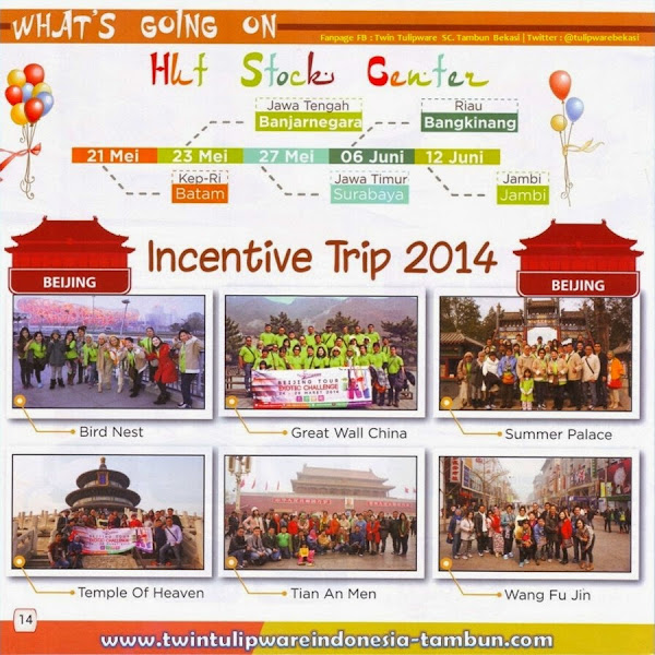 Incentive Trip Twin Tulipware 2014, Beijing China, HUT Stock Center