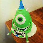 He loves Monster's inc and requested a Mike Wazowski cake with a birthday .