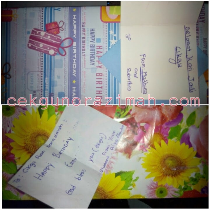 Hadiah dari pelajar