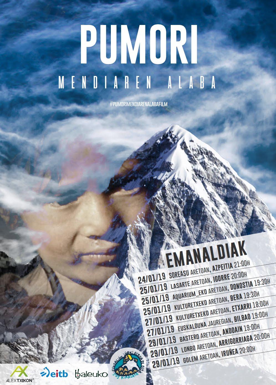 """29 Enero (20 h.): Proyección del documental """"PUMORI"""" - Teatro Lonbo Aretoa de Arrigorriaga"""