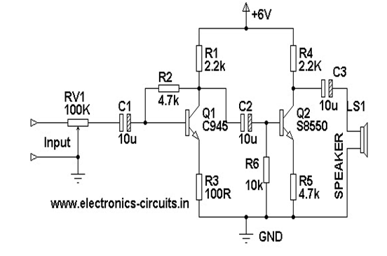 mechanical information  simple computer speaker circuit