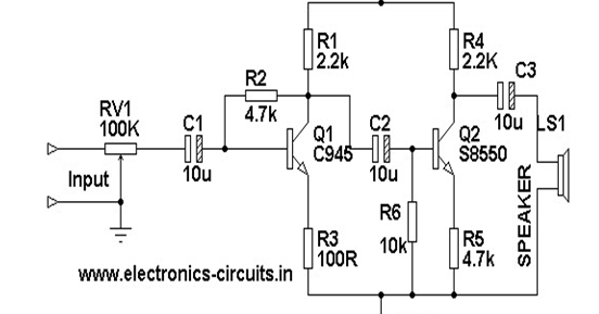 mechanical information  simple computer speaker circuit diagram