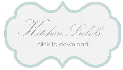 free printable kitchen labels