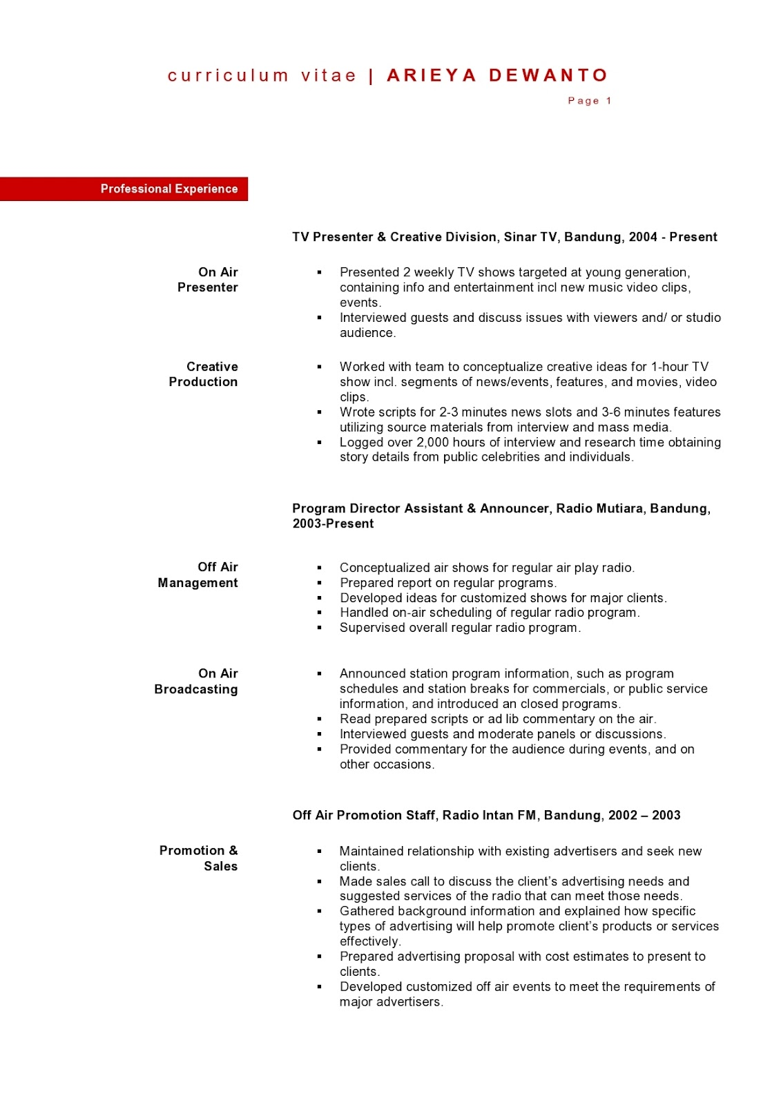 Radio Promotions Assistant Cover Letter Questions For Radio Presenter  Answers