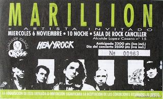 entrada de concierto de marillion
