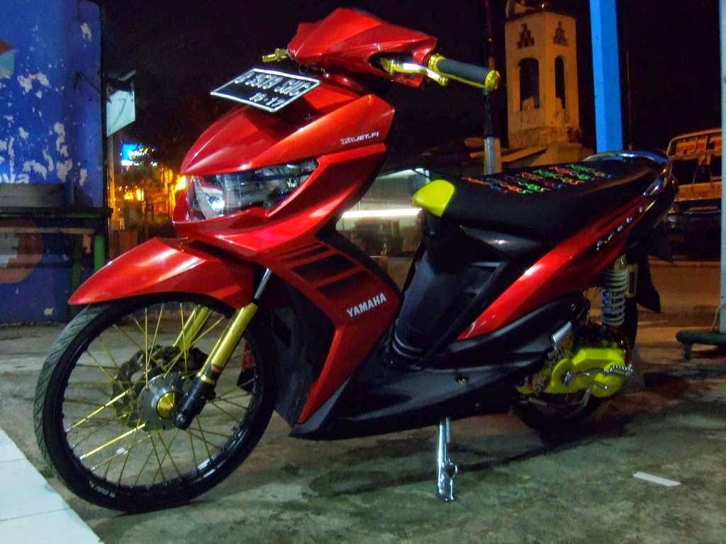 Top modifikasi motor mio soul gt warna putih