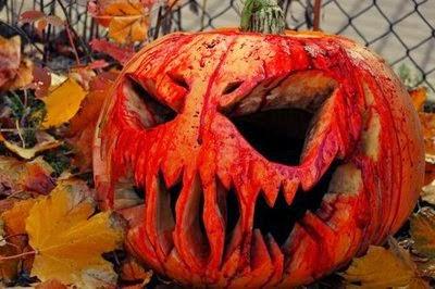 Bloody Jack-o-Lantern Pumpkin