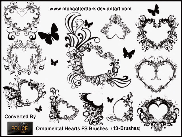 Ornamental Hearts ~ POLICE Media