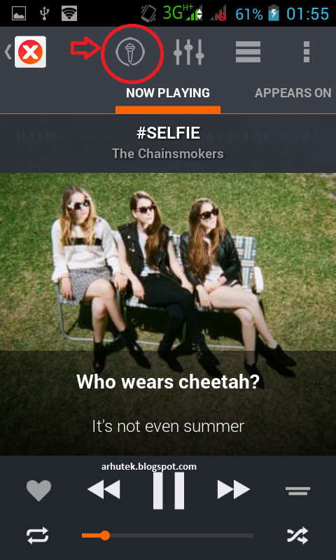 Karaokean di Android (Review musiXmatch)