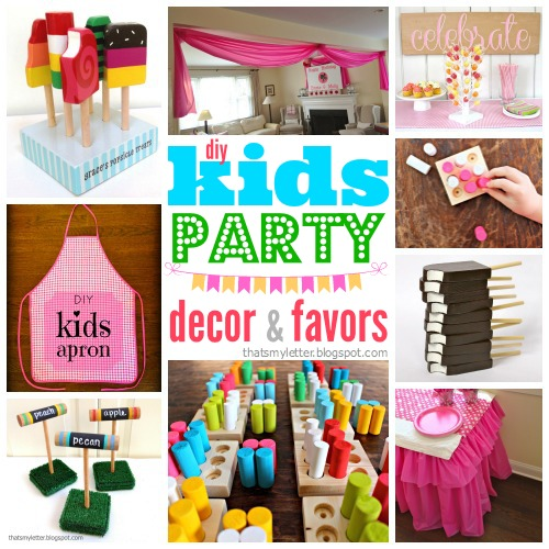 diy kids party decor & favors