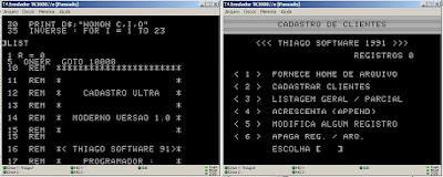 apple ii cadastro de clientes ultra moderno Thiago Software 1990 Santos-SP