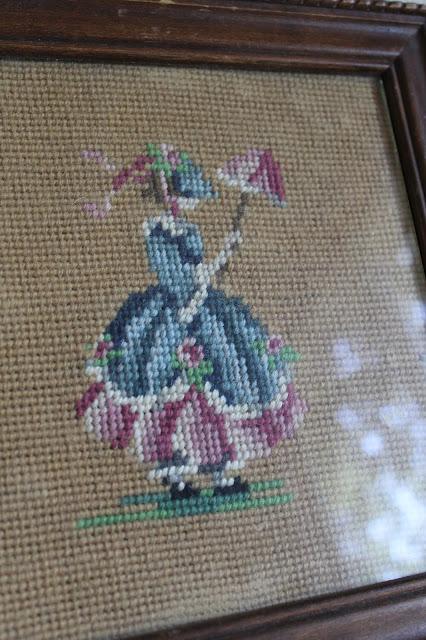 vintage frame stitching
