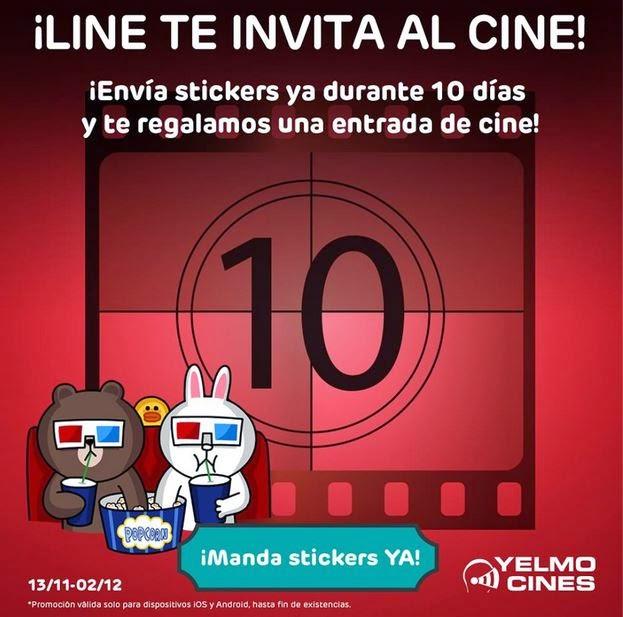 Line entradas de cine gratis