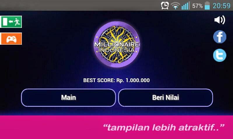 Serunya Bermain Game Kuis Millionaire Indonesia Saat Santai