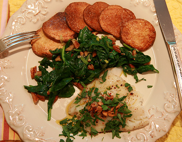 Bruce's Kitchen: Grilled Cod with Fried Garlic and Chilies