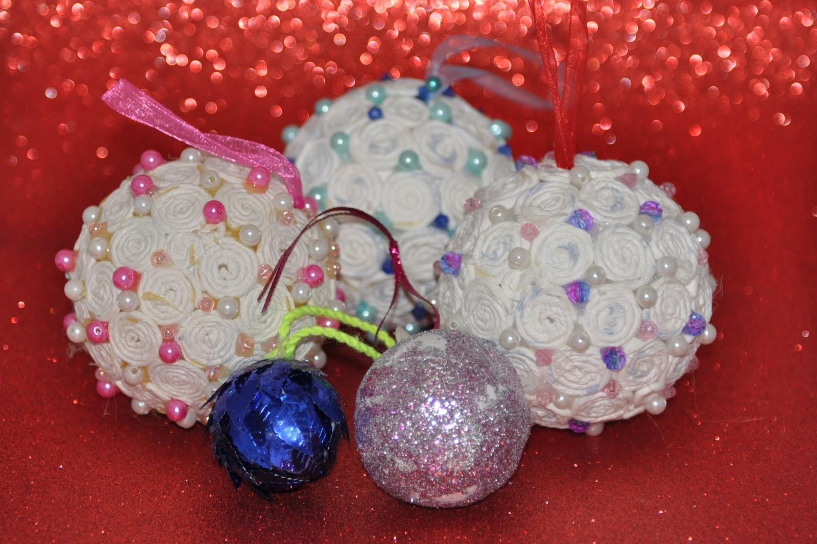 Mamypotis d i y adornos para el arbol de navidad - Bolas de navidad grandes ...