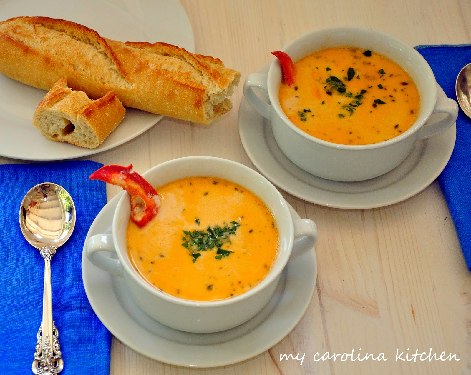 My Carolina Kitchen: Lobster Bisque