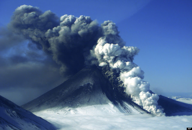 Pavlof Volcano is given a code red as eruption belches an ash cloud 20,000 feet into the Alaskan...