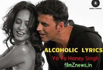 Alcoholic Lyrics from The Shaukeens - Yo Yo Honey Singh, Akshay Kumar