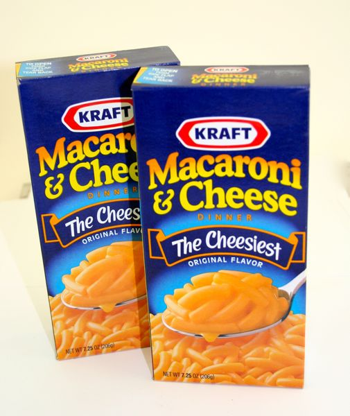 macaroni and cheese box