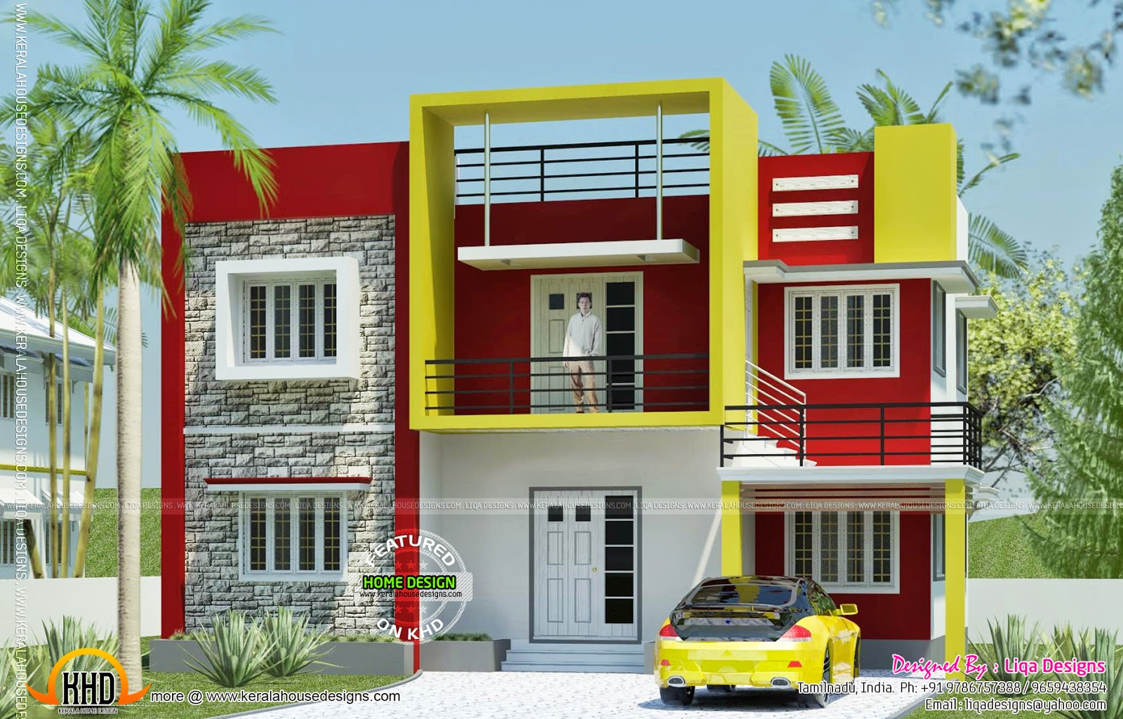 Contemporary house in tamilnadu kerala home design and for Home designs in tamilnadu