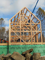 vermont timber frame raising