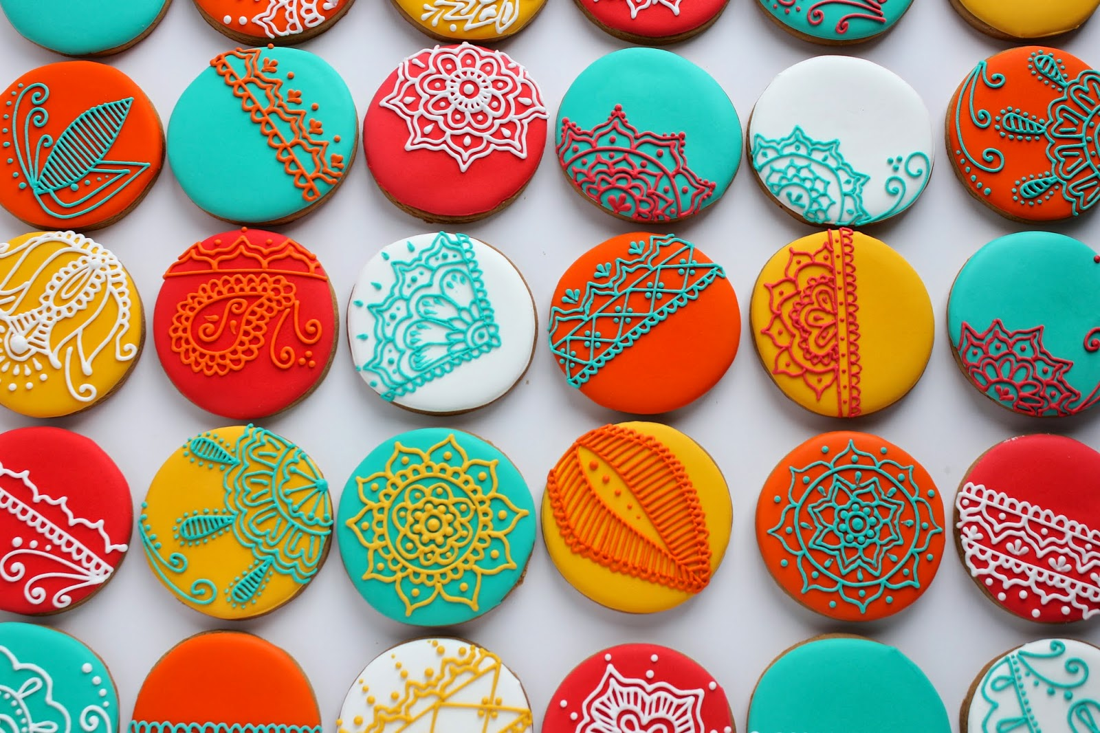Sugar Bea39s Blog Henna Inspired Christmas Cookies For Some VERY