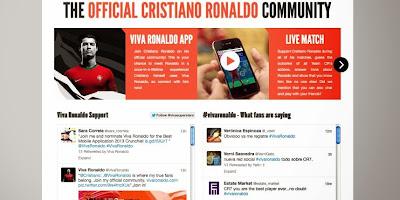 Le site permettra aux fans de Cristiano Ronaldo de suivre toutes les actualités de leur idole.