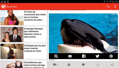 Imagenes y videos virales en tu teléfono movil con BuzzFeed