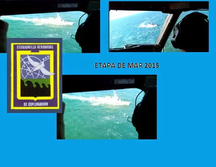 La Escuadrilla Aeronaval de Exploración: operaciones de adiestramiento en la Etapa de Mar