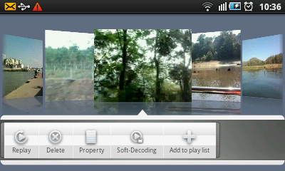 Android Video Player - Context Menu