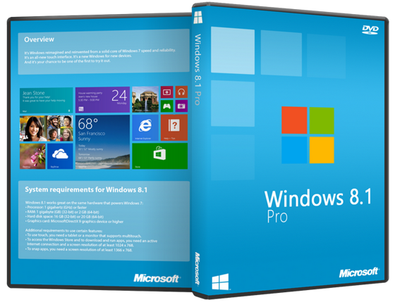 Windows 8.1 PRO Download ISO 32 / 64 Bit Free