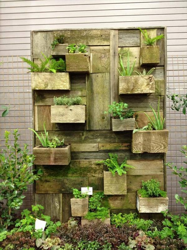 12 fant sticos jardines verticales for Jardines verticales con palets