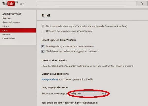 """Hướng dẫn """"cài đặt"""" YouTube tiếng Việt toàn diện"""