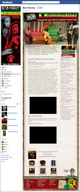 Bob marley fan page