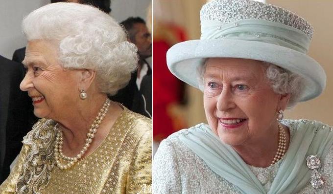 Queen Elizabeth Wearing The Larger Pearl On Earrings During Her Diamond Jubilee Celebrations