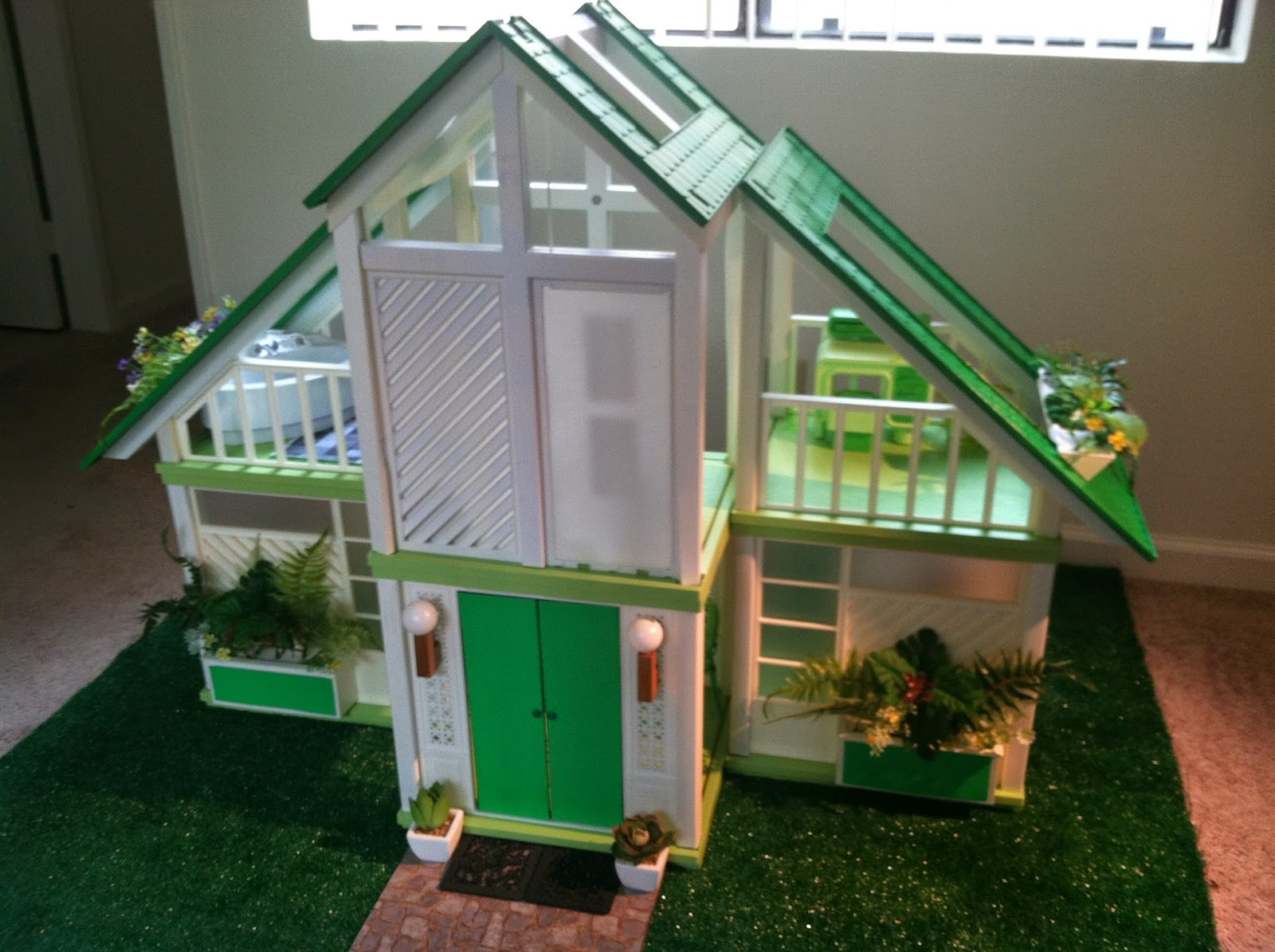The one and only mattel barbie 1978 a frame dreamhouse for Custom dream house