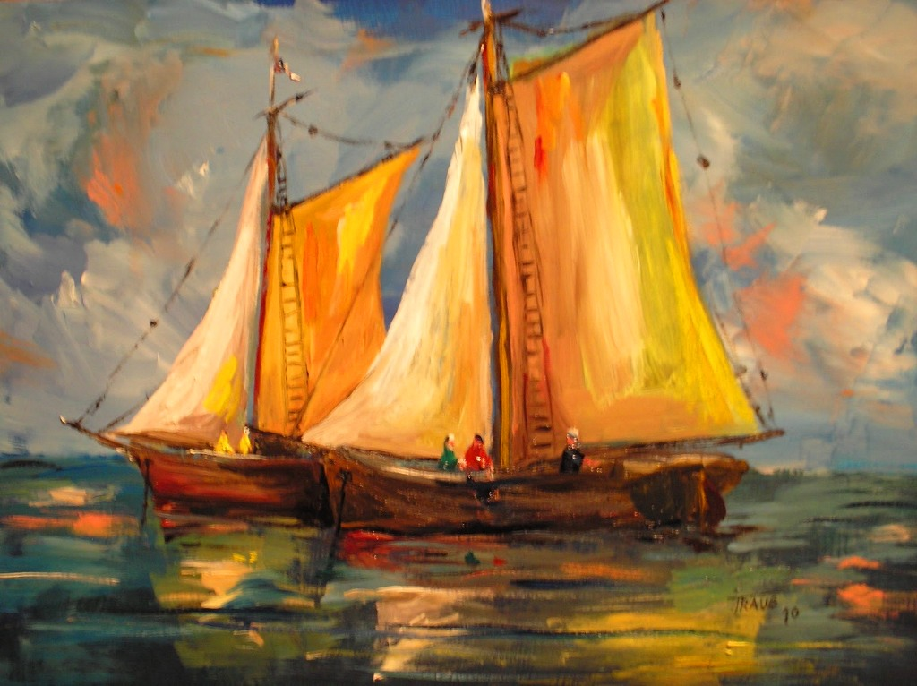 Im genes arte pinturas galeria barcos al leo - Pintar en lienzo para principiantes ...