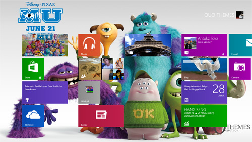 Monsters University 2013 Theme For Windows 7 And 8