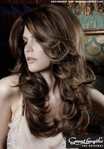 Peinados a la moda sensuales ondas largas tendencias 2013 for Colores sensuales