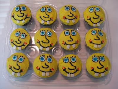 Sponge Bob Cupcakes