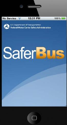 Automobile transport saferbus mobile application to find for Federal motor carrier administration