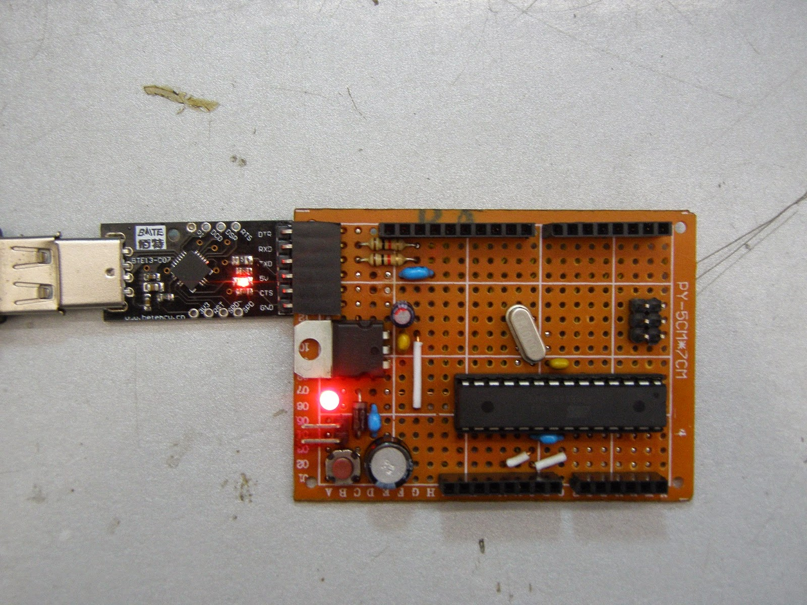 I bek car electrician arduino home made on veroboard by