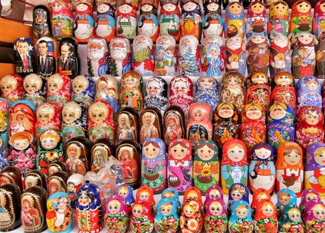 Matrioskas en el Mercado Izmailovo