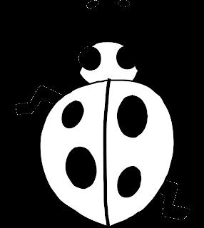 Lady Bug Outline Line Drawing Painting Kindergarten Worksheet Guide