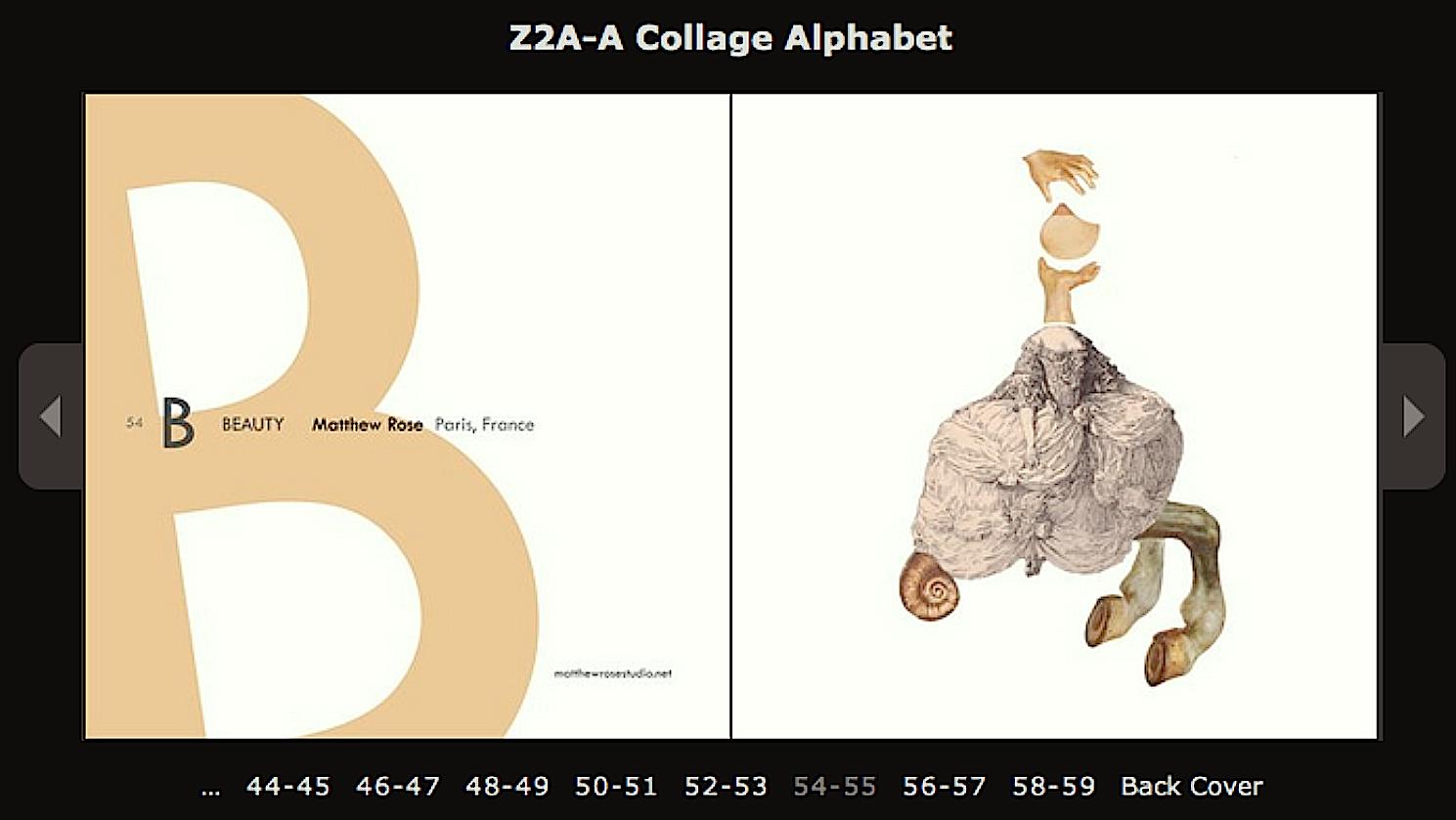 MATTHEW ROSE STUDIO Z 2 A A Collage Alphabet
